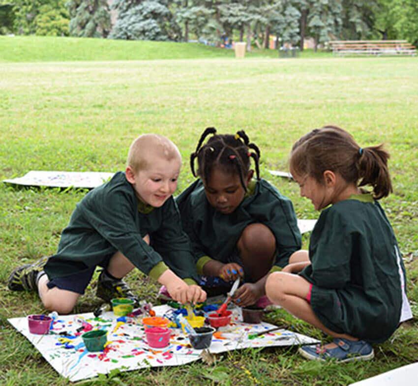 Peinture - parc - plein air - enfant - activité
